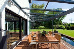 stiklinės terasos