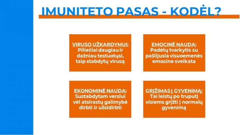 Išsilaisvinimui nuo COVID-19 Vilnius siūlo Imuniteto pasą