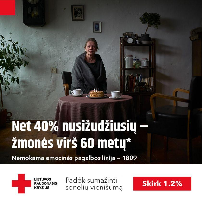 """Lietuvos Raudonasis Kryžius pristato kampaniją """"(Ne)vieniši gimtadieniai"""""""
