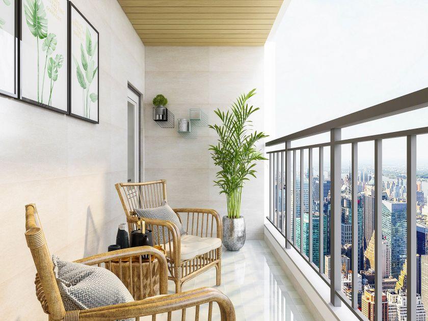 Eklektika, augalai, funkcionalumas – šiandieninės balkonų ir terasų interjero dizaino tendencijos